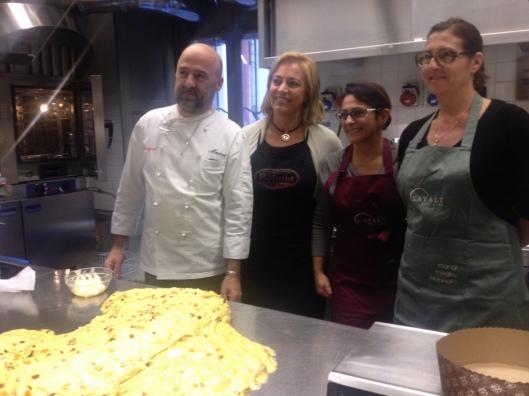 Le mie compagna d'avventura, Luana, Francesca e Fabiola, naturalmente con Marco Avidano